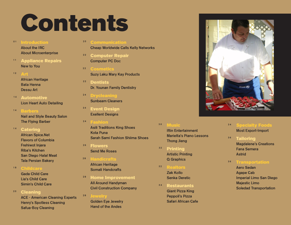 Business Directory Spread